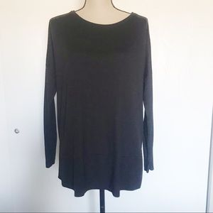Loft Black Long Sleeve Shirt